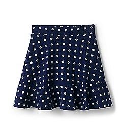 Lands' End - Blue Toddler Girls' Drop Waist Patterned Pure cotton Skort