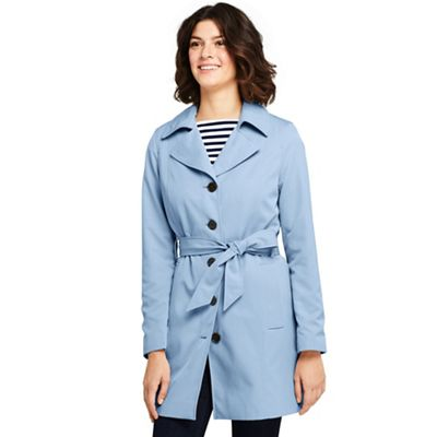 Lands' End   Blue Petite Lightweight Trench Coat by Lands' End