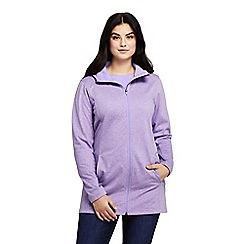 Lands' End - Purple Plus Cotton Rich Water Resistant Fleece Coat