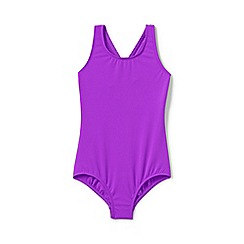 Lands' End - Purple Toddler Girls' Essential Cross-Back Swimsuit