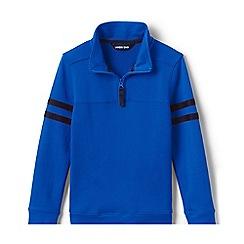 Lands' End - Blue Boys' Half-Zip Pure Cotton Top