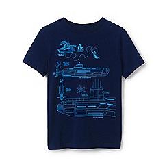 Lands' End - Blue Boys' Graphic Pure Cotton T-shirt