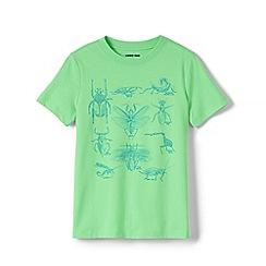 Lands' End - Green Boys' Graphic Pure Cotton T-shirt
