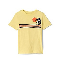 Lands' End - Yellow Boys' Graphic Pure Cotton T-shirt