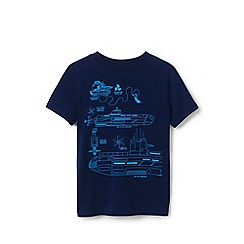 Lands' End - Blue Toddler Boys' Graphic Pure Cotton T-shirt