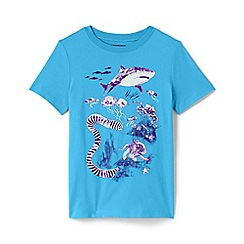 Lands' End - Blue Toddler Boys' Sun-Reactive Graphic Pure Cotton T-shirt
