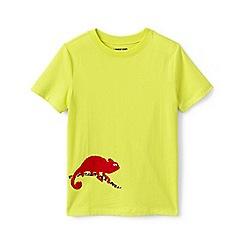 Lands' End - Yellow Boys' Flip-Graphic Pure Cotton T-shirt