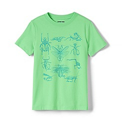 Lands' End - Green Toddler Boys' Graphic T-shirt