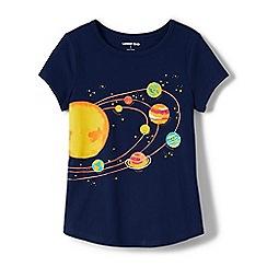 Lands' End - Blue Girls' Short Sleeve Graphic T-Shirt