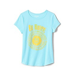 Lands' End - Blue Girls' Pure Cotton T-shirts with Graphics