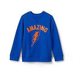 Lands' End - Blue Boys' Sweatshirt With Graphic
