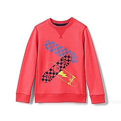 Lands' End - Pink Boys' Sweatshirt With Graphic