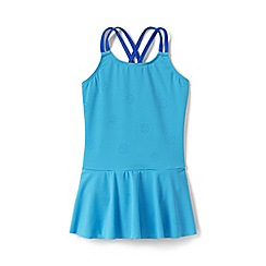Lands' End - Blue Girls' Colour Change Graphic Skirted Swimsuit