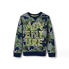 Lands' End - Multi Boys' Camo Sweatshirt With Graphic