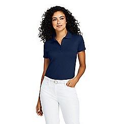 e1a3919a241 Lands  End - Blue Petite Short Sleeve Supima Polo Shirt