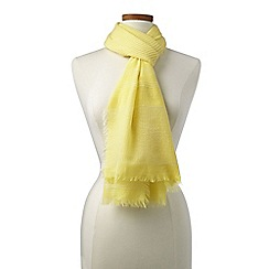 Lands' End - Yellow Textural Stripe Scarf