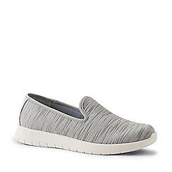 Lands' End - Grey Wide Lightweight Comfort Mesh Slip-On Shoes
