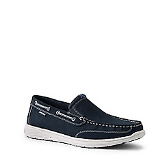 Lands' End - Blue wide lightweight comfort loafers
