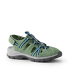 Lands' End - Green Suede Walking Sandals