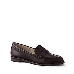 Lands' End - Brown Wide Leather Penny Loafers