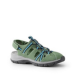 Lands' End - Green Wide Suede Walking Sandals