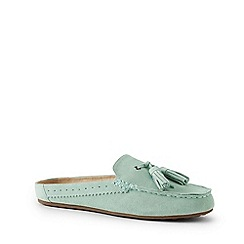 Lands' End - Green Suede Comfort Mules