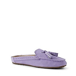 Lands' End - Purple Suede Comfort Mules