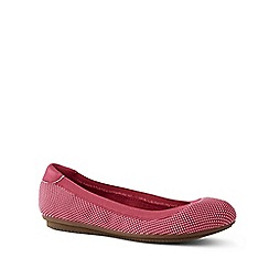 Lands' End - Red Wide Comfort Ballet Pumps
