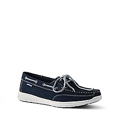 Lands' End - Navy Lightweight Comfort Boat Shoes