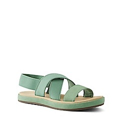 Lands' End - Green Elastic Cross Strap Sandals