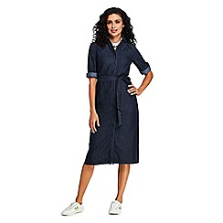 Lands' End - Navy Long Shirt Dress