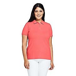 Lands' End - Orange Plus Pique Polo Shirt