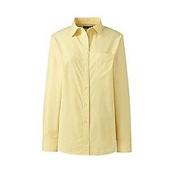 Lands' End - Yellow Plus Stretch Oxford Shirt