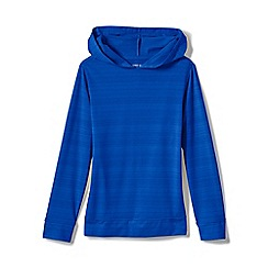Lands' End - Blue Kids' Hoodie with Upf 50