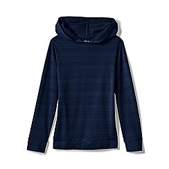 Lands' End - Blue Toddler Kids' Hoodie with Upf 50