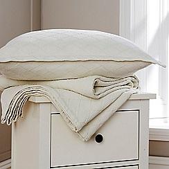 Christy - Cream 'Paris'  cotton bedspread