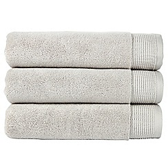 Christy - Silver 'Blossom' towels