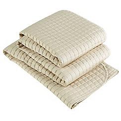 Christy - Pale Stone 'Metropolitan' 300 Thread Count Cotton Throw