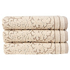 Christy - Gold 'Versailles' towel