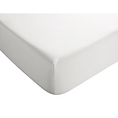 Christy - White '400 TC Sateen' Deep Fitted Sheet