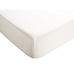 Christy - Ivory '400 TC Sateen' Deep Fitted Sheet