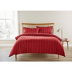 Christy - Red 'Finchley Stripe' Duvet Set