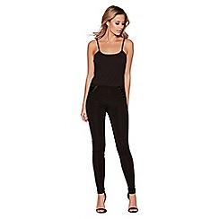 Quiz - Black lace up leggings