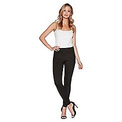 Quiz - Black high waisted disco leggings