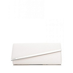 Quiz - White Diagonal Flap Bag