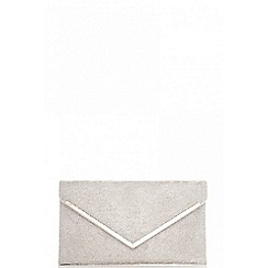 Quiz - Silver  diamante envelope bag