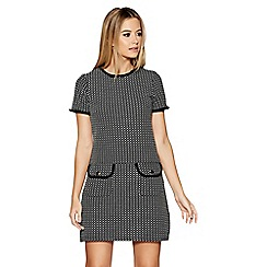 Quiz - Black and grey short sleeves tunic dress