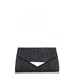 Quiz - Black glitter clutch bag