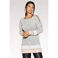 Quiz - Grey pink and cream jumper