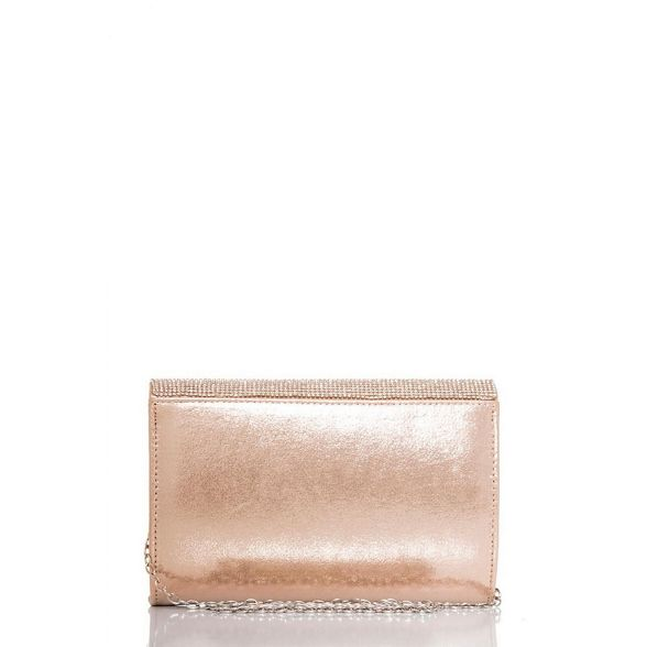 and bag Gold Quiz clutch diamante shimmer F4OgxgZq